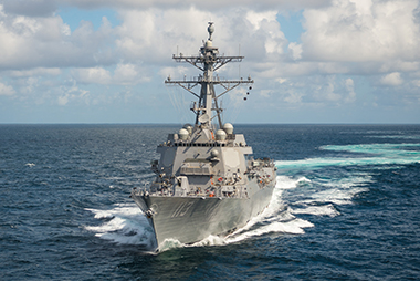 John Finn (DDG 113) completes the first round of sea trials.